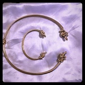 Baublebar Goldtone Knot Necklace & Bracelet